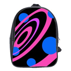 Pink and blue twist School Bags(Large)