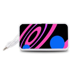 Pink and blue twist Portable Speaker (White)