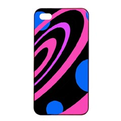 Pink and blue twist Apple iPhone 4/4s Seamless Case (Black)