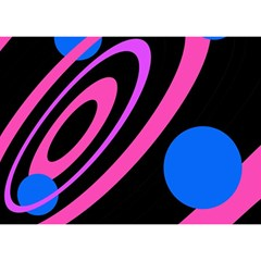 Pink and blue twist Birthday Cake 3D Greeting Card (7x5)