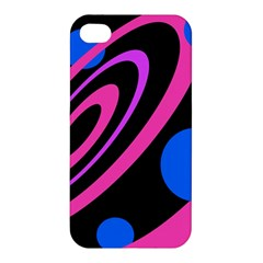 Pink and blue twist Apple iPhone 4/4S Hardshell Case