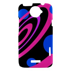 Pink and blue twist HTC One X Hardshell Case