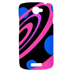 Pink and blue twist HTC One S Hardshell Case