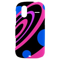 Pink and blue twist HTC Amaze 4G Hardshell Case
