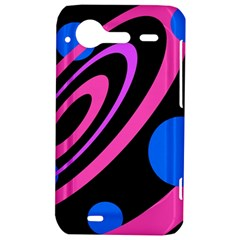 Pink and blue twist HTC Incredible S Hardshell Case