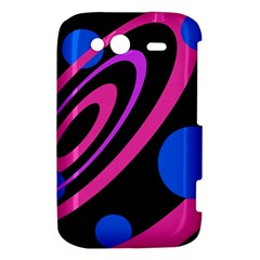 Pink and blue twist HTC Wildfire S A510e Hardshell Case