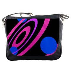 Pink and blue twist Messenger Bags