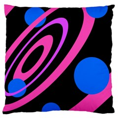 Pink and blue twist Large Cushion Case (One Side)