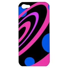 Pink and blue twist Apple iPhone 5 Hardshell Case
