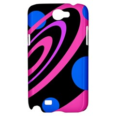 Pink and blue twist Samsung Galaxy Note 2 Hardshell Case