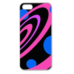 Pink and blue twist Apple Seamless iPhone 5 Case (Clear)