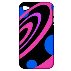 Pink and blue twist Apple iPhone 4/4S Hardshell Case (PC+Silicone)