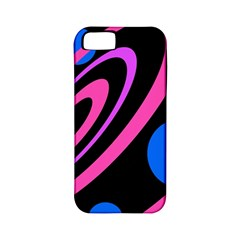 Pink and blue twist Apple iPhone 5 Classic Hardshell Case (PC+Silicone)
