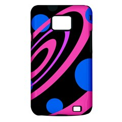Pink and blue twist Samsung Galaxy S II i9100 Hardshell Case (PC+Silicone)