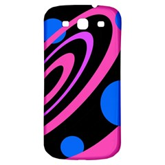 Pink and blue twist Samsung Galaxy S3 S III Classic Hardshell Back Case