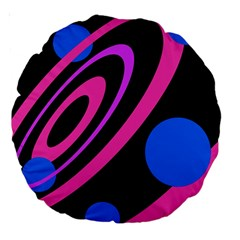 Pink and blue twist Large 18  Premium Round Cushions