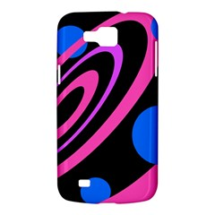Pink and blue twist Samsung Galaxy Premier I9260 Hardshell Case