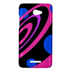 Pink and blue twist HTC Butterfly X920E Hardshell Case