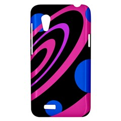 Pink and blue twist HTC Desire VT (T328T) Hardshell Case