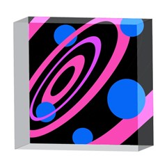 Pink and blue twist 5  x 5  Acrylic Photo Blocks