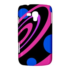 Pink and blue twist Samsung Galaxy Duos I8262 Hardshell Case