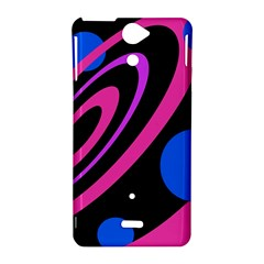 Pink and blue twist Sony Xperia V