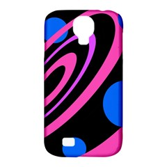 Pink and blue twist Samsung Galaxy S4 Classic Hardshell Case (PC+Silicone)