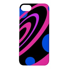 Pink and blue twist Apple iPhone 5S/ SE Hardshell Case