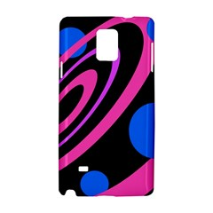 Pink and blue twist Samsung Galaxy Note 4 Hardshell Case