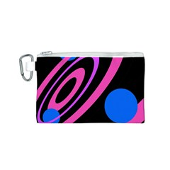 Pink and blue twist Canvas Cosmetic Bag (S)