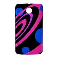 Pink and blue twist Nexus 6 Case (White)