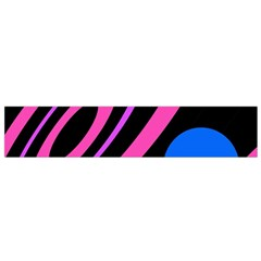 Pink and blue twist Flano Scarf (Small)