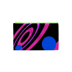 Pink and blue twist Cosmetic Bag (XS)
