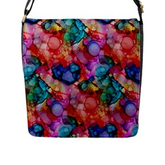 Rainbow Ocean  Flap Messenger Bag (L)
