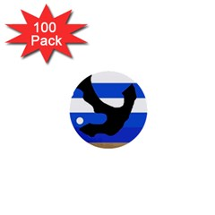 Anchor 1  Mini Buttons (100 pack)