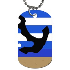 Anchor Dog Tag (Two Sides)