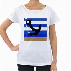Anchor Women s Loose-Fit T-Shirt (White)