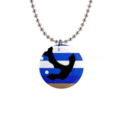 Anchor Button Necklaces