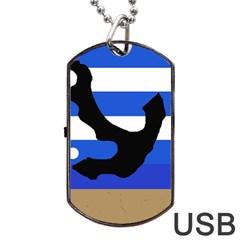 Anchor Dog Tag USB Flash (Two Sides)