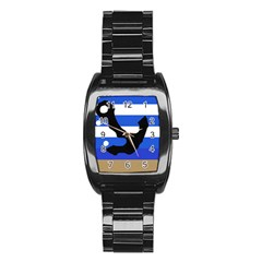 Anchor Stainless Steel Barrel Watch
