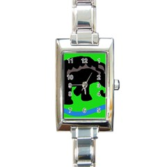 Elephand Rectangle Italian Charm Watch