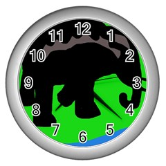 Elephand Wall Clocks (Silver)