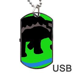 Elephand Dog Tag USB Flash (One Side)
