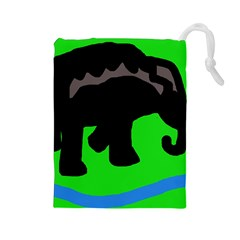 Elephand Drawstring Pouches (Large)