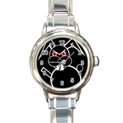 Evil rabbit Round Italian Charm Watch