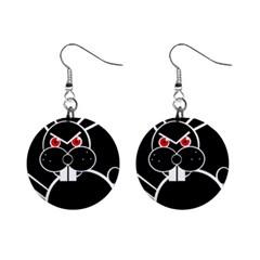 Evil rabbit Mini Button Earrings