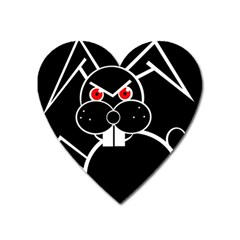 Evil rabbit Heart Magnet