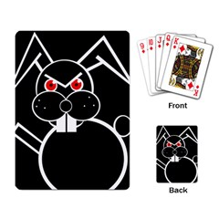 Evil rabbit Playing Card