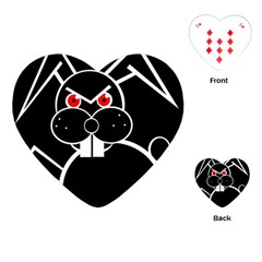 Evil rabbit Playing Cards (Heart)