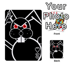 Evil rabbit Playing Cards 54 Designs